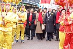 Celebración china del Año Nuevo Fotos de archivo