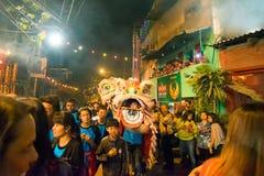 Celebración china del Año Nuevo en Kolkata Foto de archivo