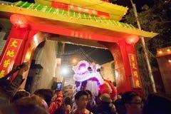 Celebración china del Año Nuevo en Kolkata Fotografía de archivo