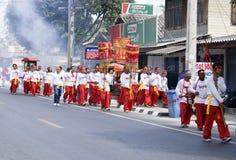 Celebración china del Año Nuevo en la KOH Samui Imagenes de archivo