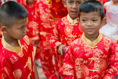 Celebración china del Año Nuevo en Tailandia Fotografía de archivo libre de regalías