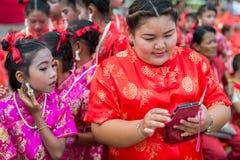 Celebración china del Año Nuevo en Tailandia Imágenes de archivo libres de regalías