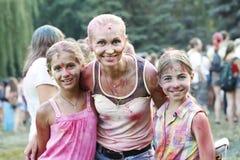 Celebración colorida, el festival de los colores Holi Imagen de archivo libre de regalías