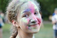 Celebración colorida, el festival de los colores Holi Foto de archivo libre de regalías