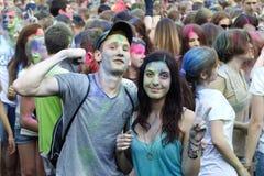 Celebración colorida, el festival de los colores Holi Fotos de archivo libres de regalías