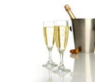 Celebración con champán Fotos de archivo libres de regalías
