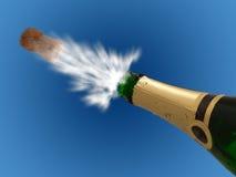 Celebración con los bubles del champán de la bebida, Año Nuevo Fotos de archivo