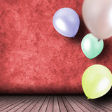 Celebración con los globos Foto de archivo libre de regalías