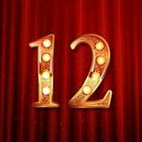 Celebración de 12 años de aniversario Imagen de archivo libre de regalías