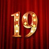 Celebración de 19 años de aniversario Imagen de archivo libre de regalías