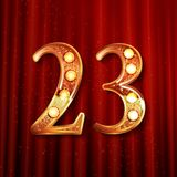 Celebración de 23 años de aniversario Foto de archivo