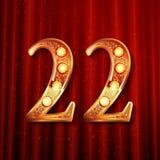 Celebración de 22 años de aniversario Foto de archivo libre de regalías
