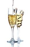 Celebración de champán Fotos de archivo libres de regalías