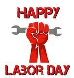 celebración de día de trabajo feliz del mundo con un puño libre illustration