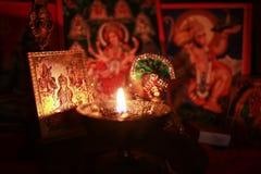 Celebración de Diwali Puja fotos de archivo