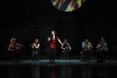 Celebración de Emerald Island---La danza de golpecito nacional irlandesa de la danza Fotos de archivo libres de regalías