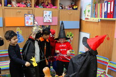 Celebración de Halloween Imagen de archivo libre de regalías