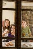Celebración de Hanukkah Imágenes de archivo libres de regalías