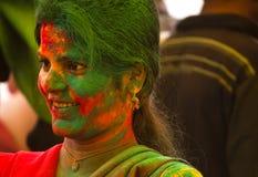 Celebración de Holi Fotos de archivo libres de regalías