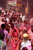 Celebración de Holi en Barsana Imagen de archivo