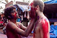 Celebración de Holi en Goa la India imagen de archivo libre de regalías