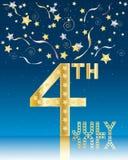Celebración de julio del cuarto Fotografía de archivo libre de regalías