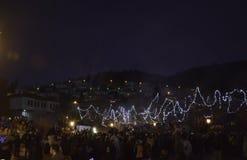 Celebración de la aduana tradicional del carnaval de Ragoutsaria en K Foto de archivo