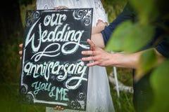 Celebración de la boda del aniversario Imagen de archivo libre de regalías