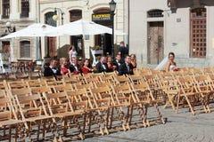 Celebración de la calle de la boda