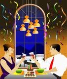 Celebración de la cena de la Navidad Imagen de archivo libre de regalías