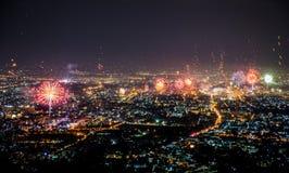 Celebración de la cuenta descendiente de la Feliz Año Nuevo Fotos de archivo libres de regalías