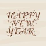 Celebración 2015 de la Feliz Año Nuevo Fotografía de archivo