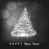 Celebración de la Feliz Año Nuevo con el árbol de Navidad Fotos de archivo
