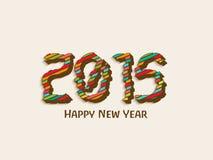 Celebración 2015 de la Feliz Año Nuevo con el texto elegante Fotos de archivo libres de regalías