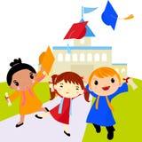 Celebración de la graduación stock de ilustración