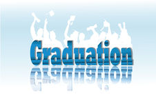 Celebración de la graduación en silueta Fotografía de archivo libre de regalías