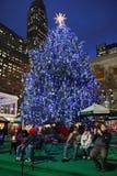 Celebración de la iluminación del árbol de navidad en el parque de Bryant Imagen de archivo