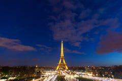 Celebración de la iluminación del Año Nuevo en la torre Eiffel el 1 de enero de 2013 Foto de archivo libre de regalías