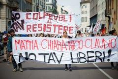 Celebración de la liberación celebrada en Milán el 25 de abril de 2014 Imágenes de archivo libres de regalías