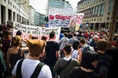 Celebración de la liberación celebrada en Milán el 25 de abril de 2014 Fotos de archivo libres de regalías