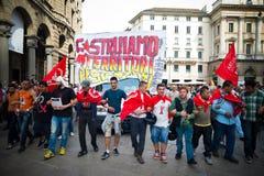 Celebración de la liberación celebrada en Milán el 25 de abril de 2014 Fotografía de archivo