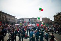 Celebración de la liberación celebrada en Milán el 25 de abril de 2014 Imagen de archivo