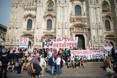 Celebración de la liberación celebrada en Milán el 25 de abril de 2014 Fotos de archivo