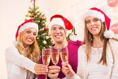 Celebración de la Navidad o del Año Nuevo Foto de archivo libre de regalías