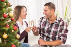 Celebración de la Navidad o del Año Nuevo Imagen de archivo