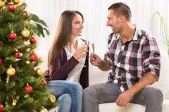 Celebración de la Navidad o del Año Nuevo Fotos de archivo libres de regalías