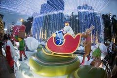 Celebración de la Navidad y del Año Nuevo en Bangkok Fotos de archivo