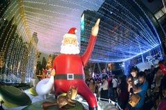 Celebración de la Navidad y del Año Nuevo en Bangkok Fotografía de archivo libre de regalías
