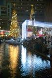 Celebración de la Navidad y del Año Nuevo en Bangkok Fotos de archivo libres de regalías