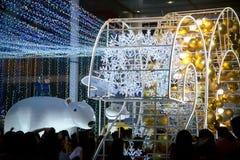 Celebración de la Navidad y del Año Nuevo en Bangkok Fotografía de archivo